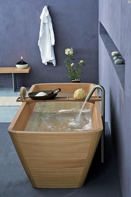 reformar el baño_bañera madera