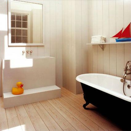 reformar el baño_suelo de madera