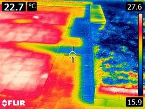 termografia_filtracion en cubierta